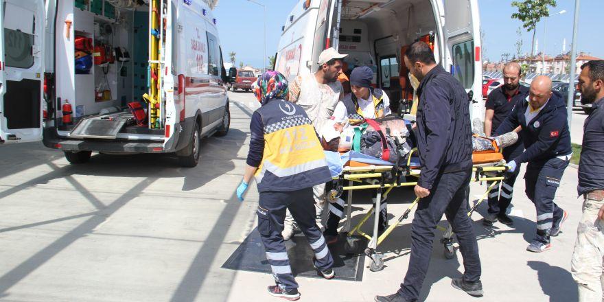 Konya'da mantolama yaparken iskeleden düşen işçi yaralandı