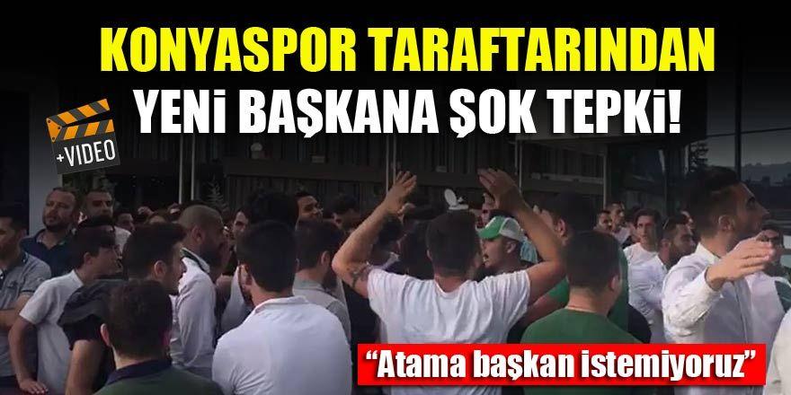 Konyaspor taraftarından yeni başkan Hilmi Kulluk'a tepki!