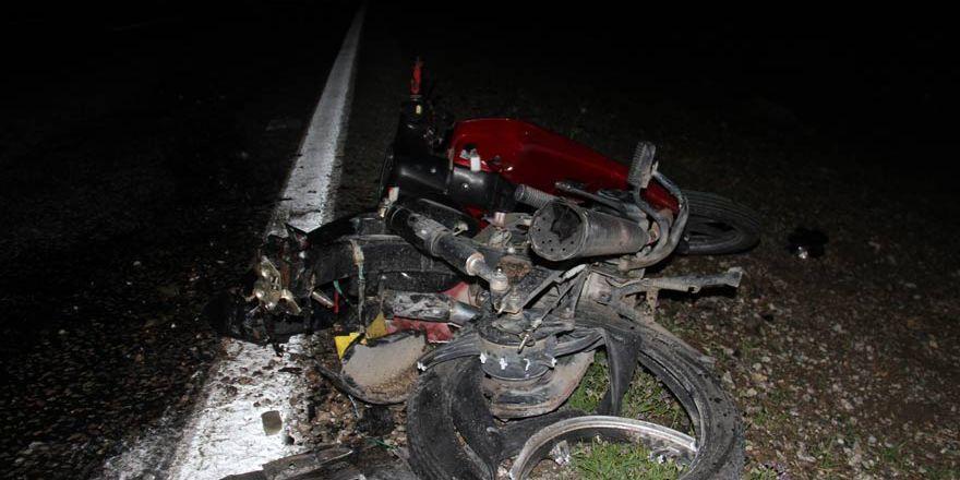 Konya'da trafik kazası! Motosiklet devrildi