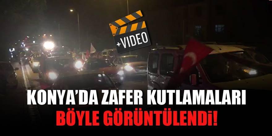 Konya'da zaferin ardından büyük coşku