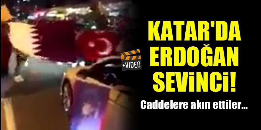 Katar'da Erdoğan sevinci! Caddelere akın ettiler...