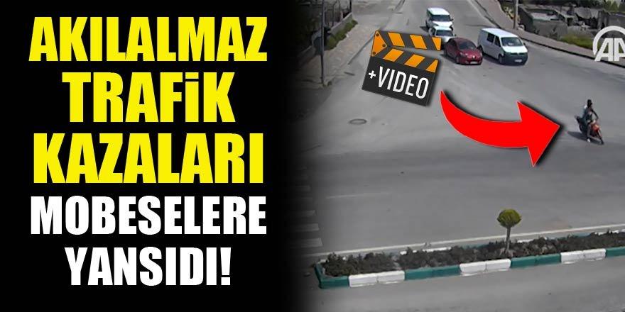 Akılalmaz trafik kazaları MOBESE kameralarında