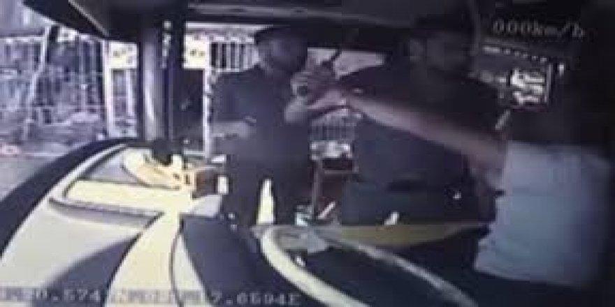 Otobüs şoförüne döner bıçağıyla saldırı!