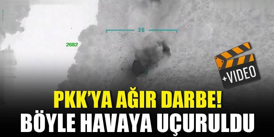 PKK'ya ağır darbe! Böyle havaya uçuruldu