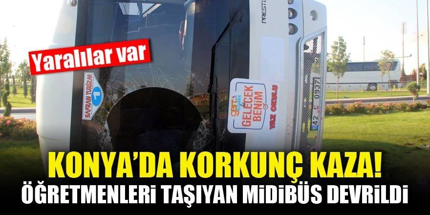 Konya'da korkunç kaza! Yaralılar var