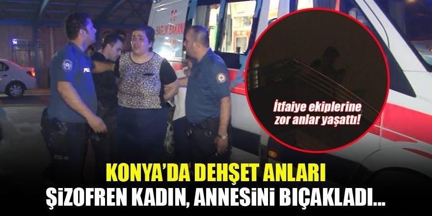 Konya'da annesini bıçaklayıp, kendini eve kilitledi