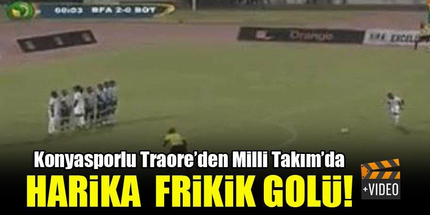 Konyasporlu Traore'den Milli Takım'da harika frikik golü!