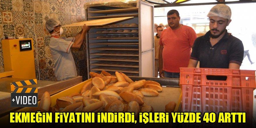 Ekmeğin fiyatını indirdi, işleri yüzde 40 arttı