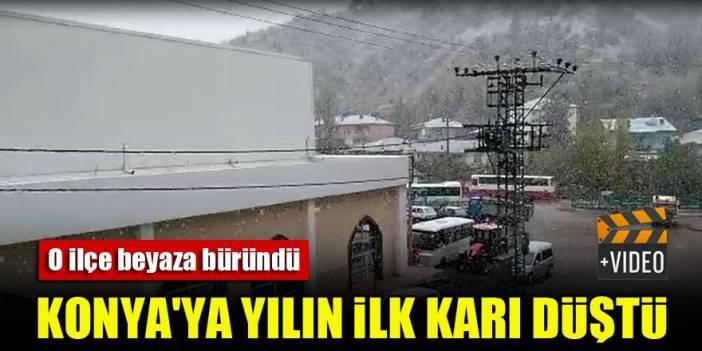 Konya'da yılın ilk karı o ilçeye düştü