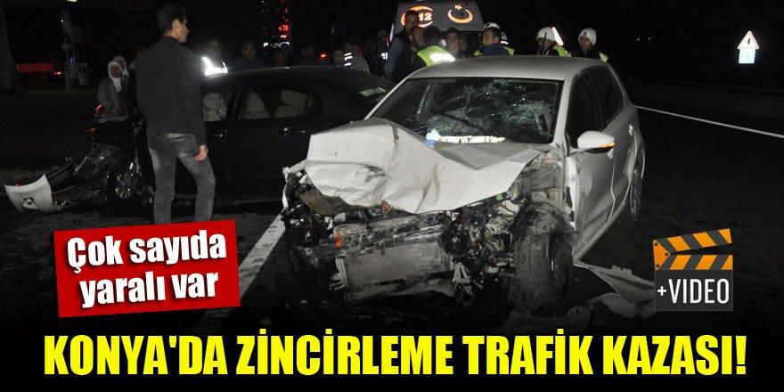 Konya'da zincirleme trafik kazası! Çok sayıda yaralı var