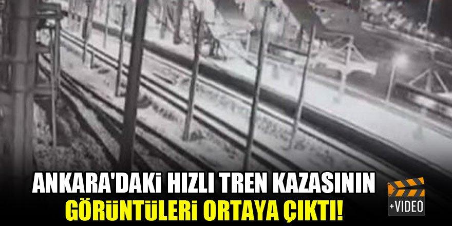 Ankara'daki hızlı tren kazasının görüntüleri ortaya çıktı!