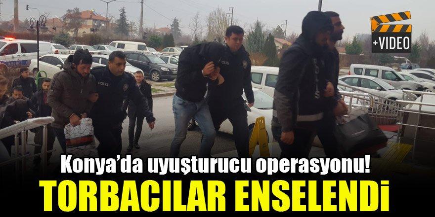 Konya'da uyuşturucu operasyonu! Torbacılar enselendi...