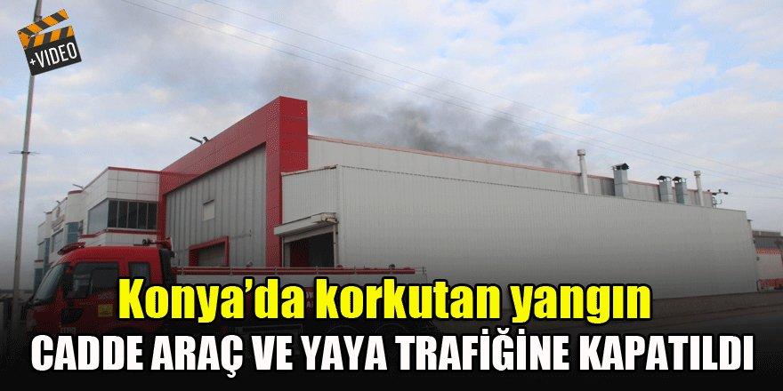 Akaryakıt tankı fabrikasında korkutan yangın
