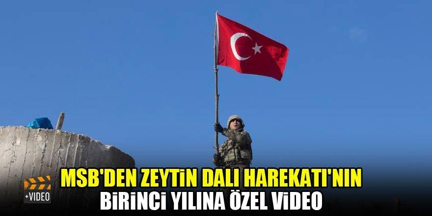MSB'den Zeytin Dalı Harekatı'nın birinci yılına özel video