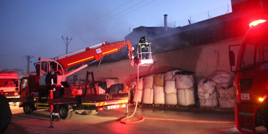 Konya'da fabrikada yangın çıktı