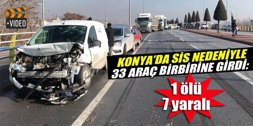 Konya'da zincirleme trafik kazası:1 ölü,7 yaralı