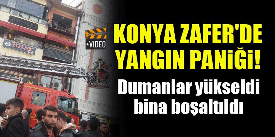 Konya Zafer'de yangın paniği! Dumanlar yükseldi, bina boşaltıldı