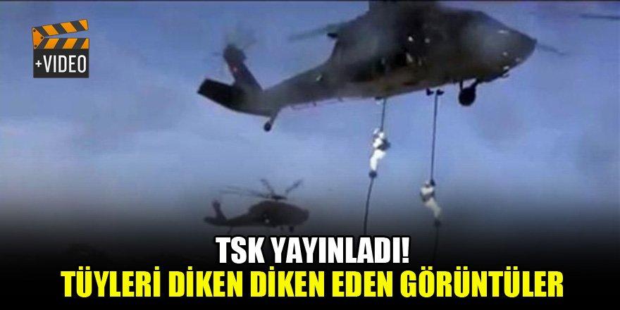 """TSK, tüyleri diken diken eden """"KIŞ-2019"""" tatbikatının görüntülerini yayınladı"""