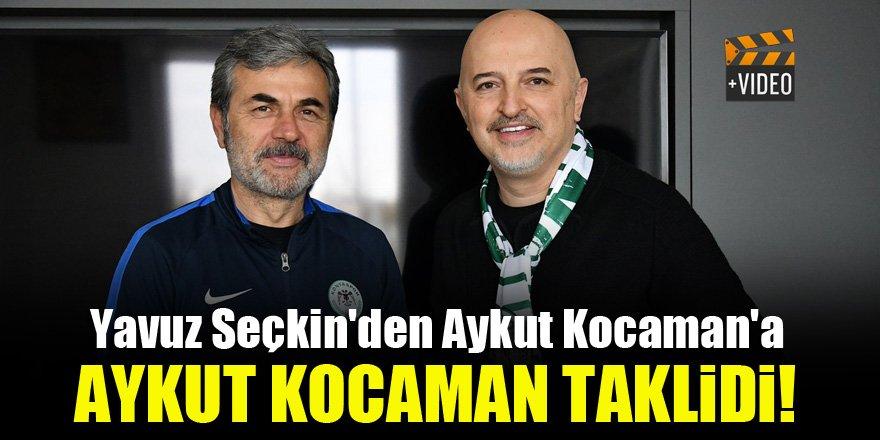 Yavuz Seçkin'den Aykut Kocaman'a, Aykut Kocaman taklidi!