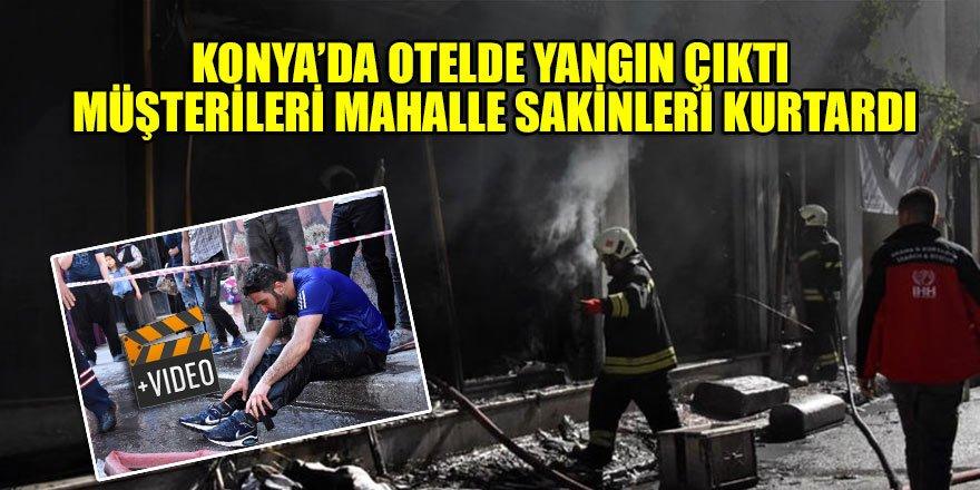Konya'da otelde yangın