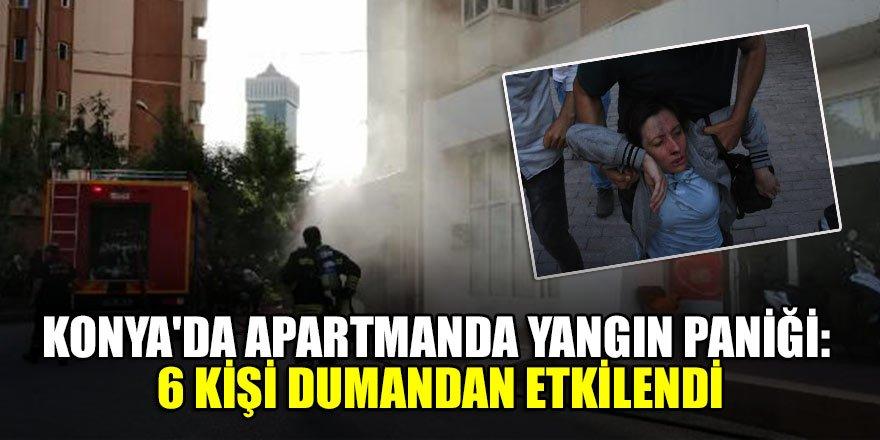Konya'da 10 katlı binada yangın paniği