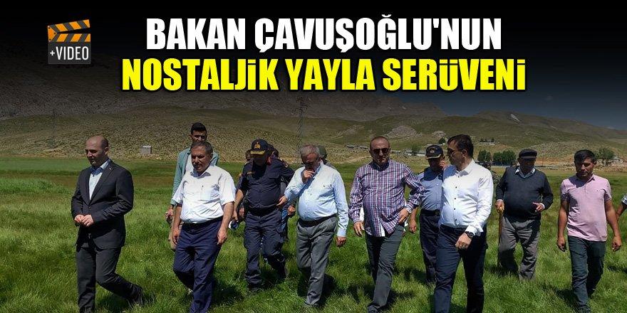 Bakan Çavuşoğlu'nun nostaljik yayla serüveni