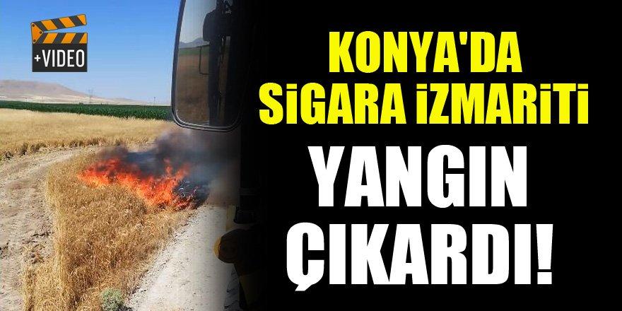 Konya'da sigara izmariti yangın çıkardı!