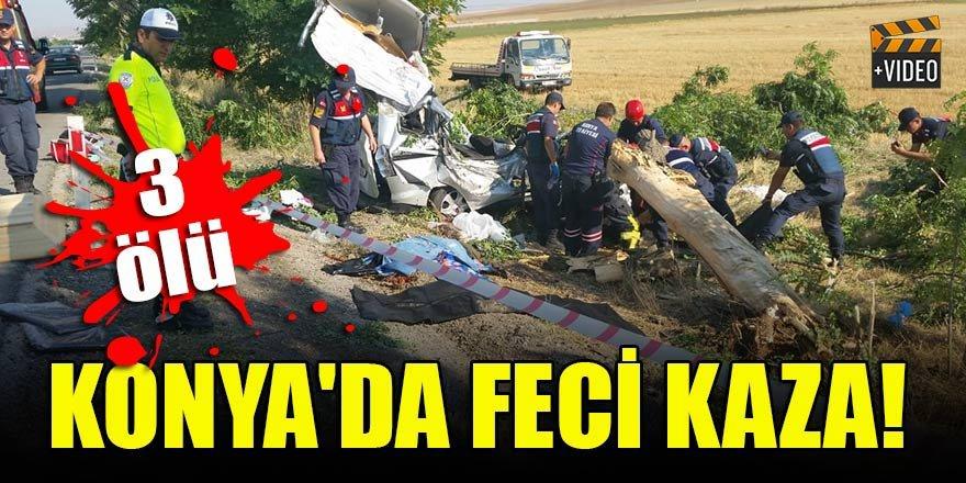 Konya'da feci kaza! 3 ölü