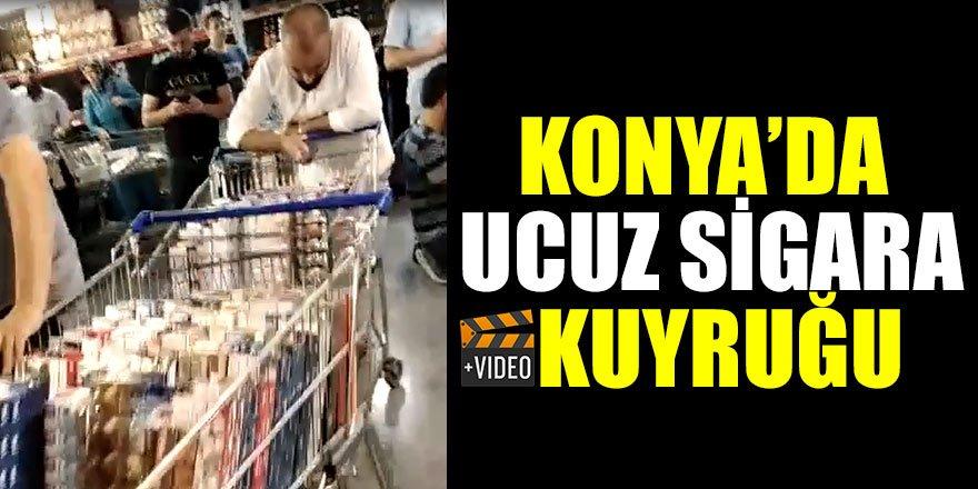 Konya'da ucuz sigara kuyruğu