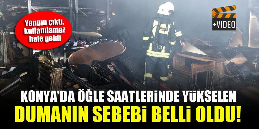Konya'da öğle saatlerinde yükselen dumanın sebebi belli oldu!