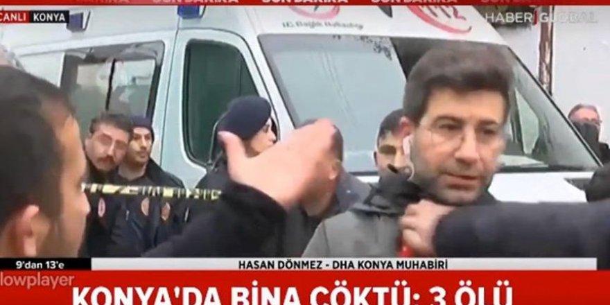 Canlı yayında muhabire tekme tokat saldırdılar
