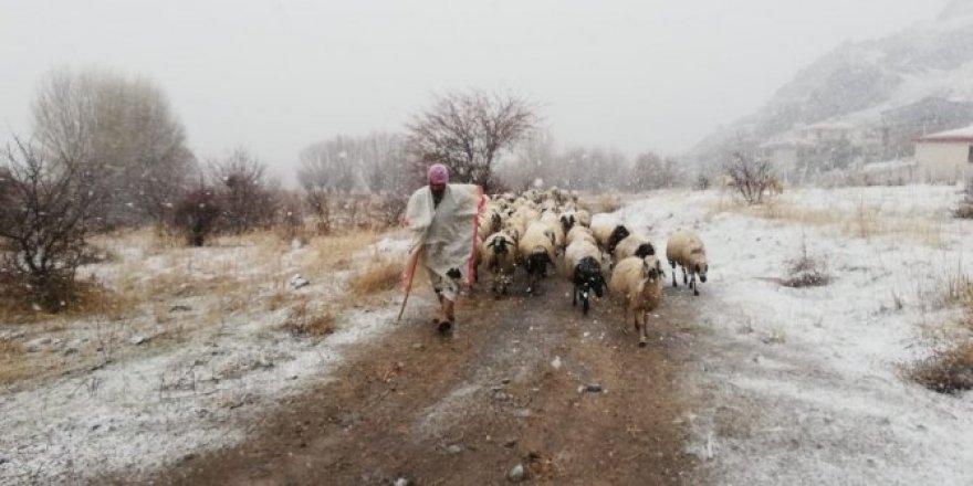 Kar, hayvancılıkla uğraşanlara zor anlar yaşatıyor