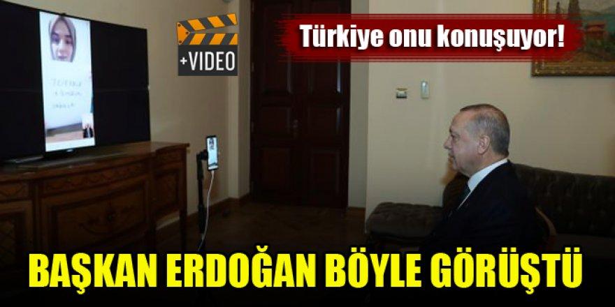 Erdoğan, Ümmü Gülsüm Genç'le sosyal medyada canlı görüştü