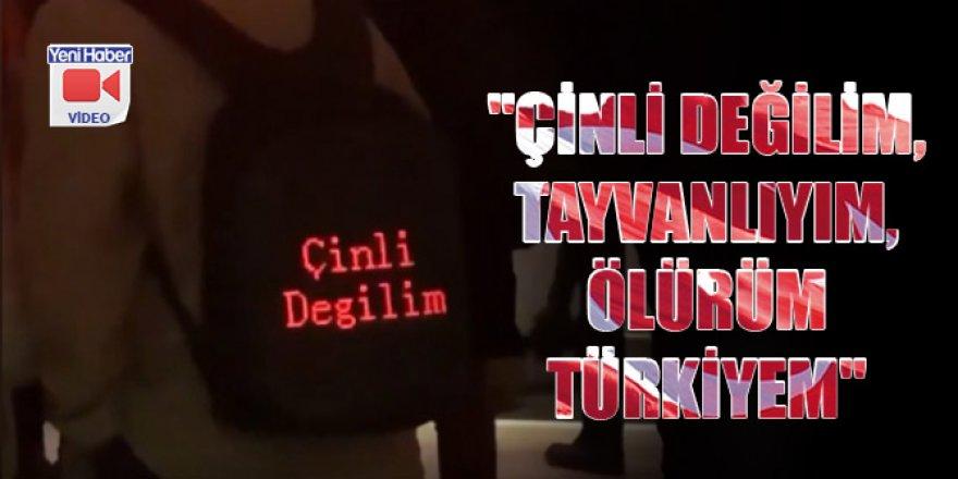 'Çinli değilim, Tayvanlıyım, Ölürüm Türkiyem'