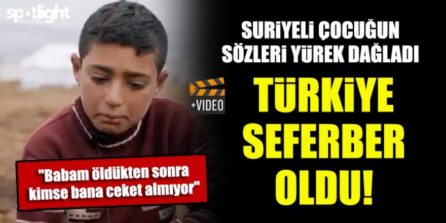 Türkiye seferber oldu! Suriyeli çocuğun sözleri yürek dağladı