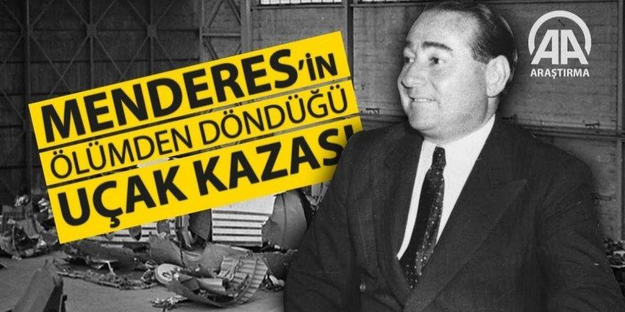 Menderes'in ölümden döndüğü uçak kazasının yıldönümü