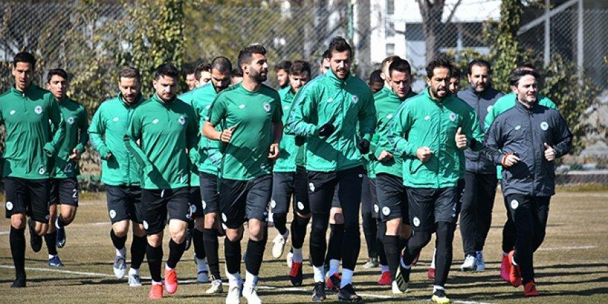Konyaspor, Kayserispor hazırlıklarını sürdürüyor