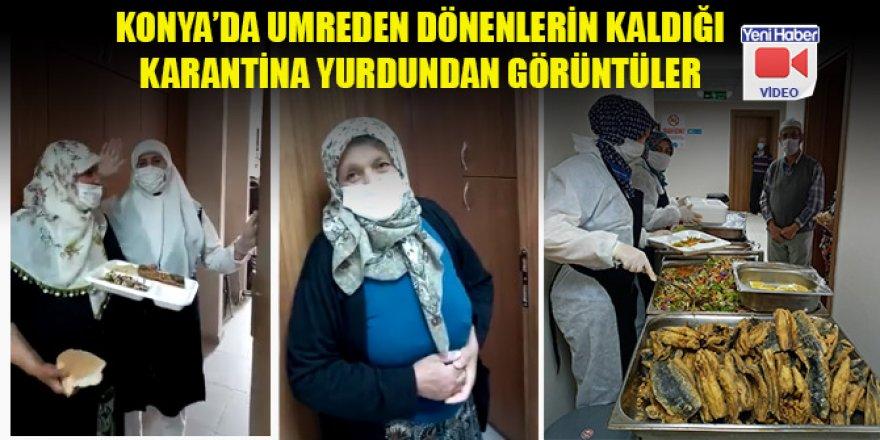 Konya'da umreden dönenlerin kaldığı karantina yurdundan görüntüler - 1