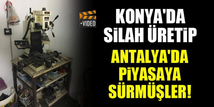 Konya'da ürettikleri silahları Antalya'da piyasaya sürmüşler!