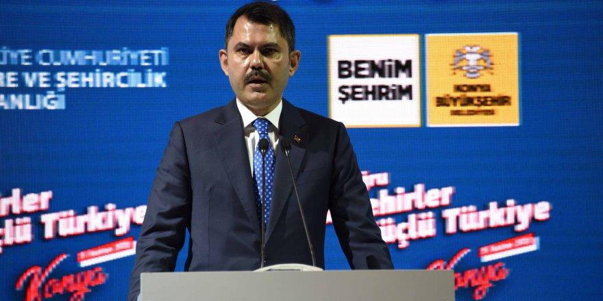Bakan Kurum Konya'ya önemli müjdeler verdi