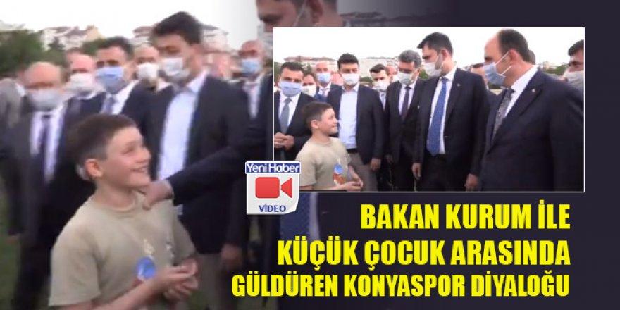 Bakan Kurum ile küçük çocuk arasında güldüren Konyaspor diyaloğu
