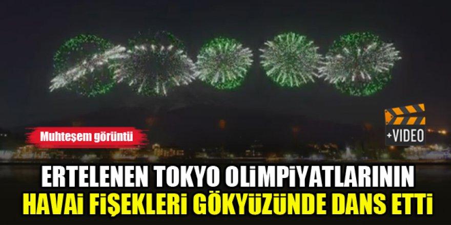 Ertelenen Tokyo Olimpiyatları'nın havai fişekleri gökyüzünde dans etti
