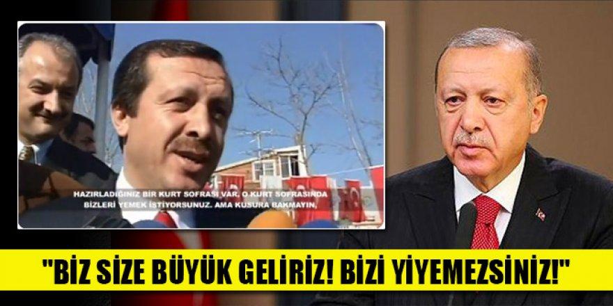 """Erdoğan'dan tarihi mesaj: """"Biz size büyük geliriz! Bizi yiyemezsiniz!"""""""