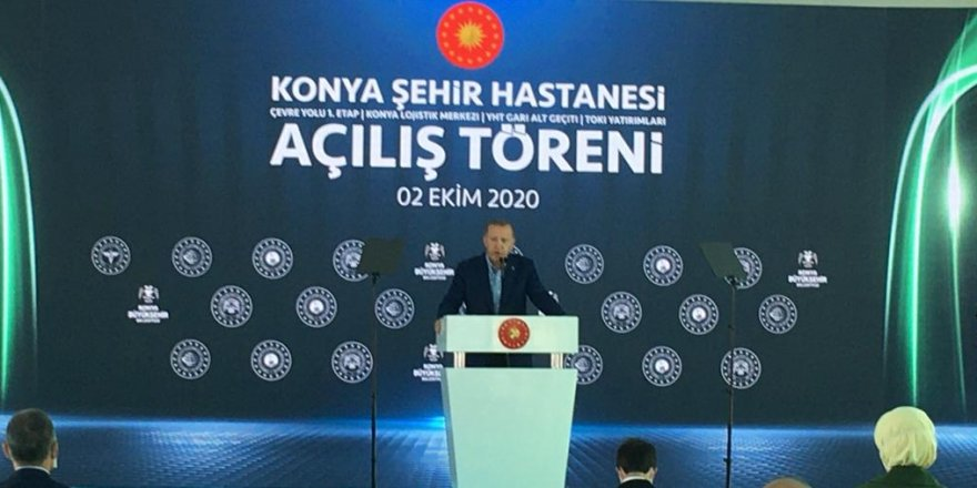 Erdoğan, Konya Şehir Hastanesi'nin açılış töreninde katıldı