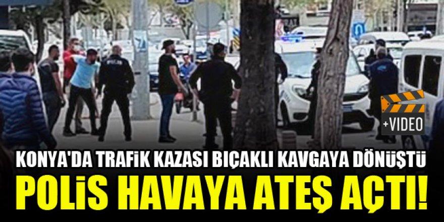 Konya'da kaza sonrası bıçaklı sopalı kavga!
