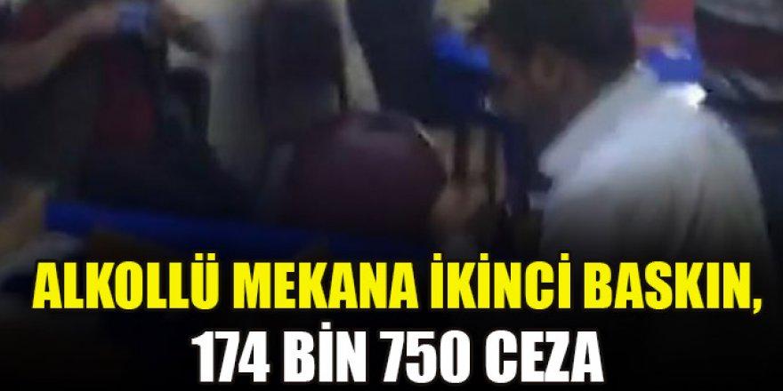 Alkollü mekana ikinci baskın, 174 bin 750 ceza