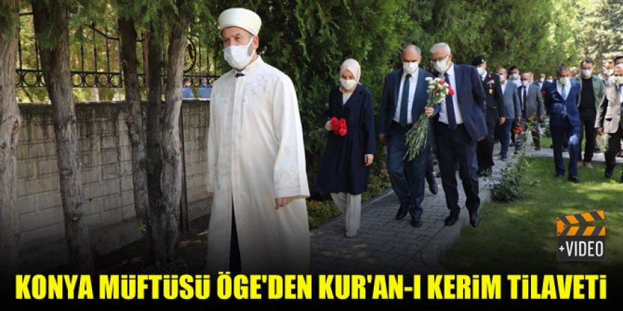 Konya Müftüsü Öge'den Kur'an-ı Kerim Tilaveti