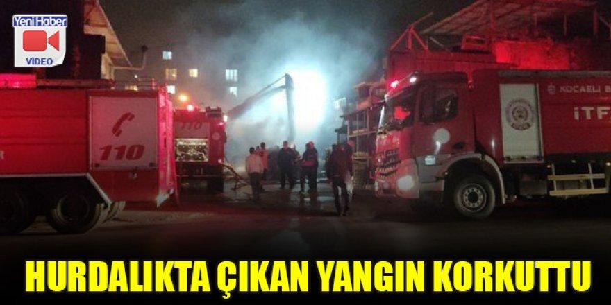 Hurdalıkta çıkan yangın korkuttu