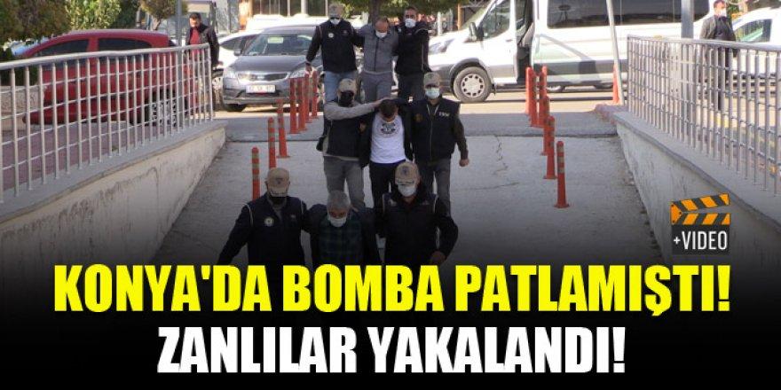 Konya'da bomba patlamıştı! Zanlılar yakalandı!