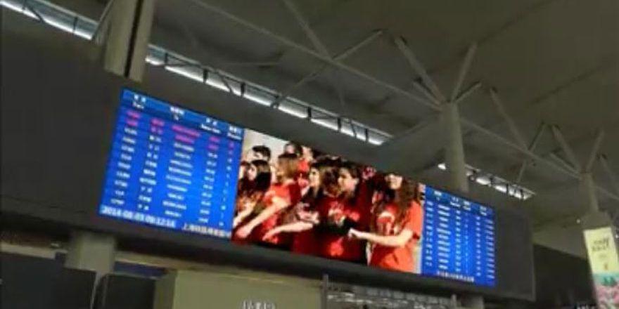 KOMEK öğrencilerinin klibi Şanghay metrosunda yayımlandı